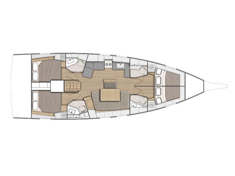 Oceanis 46.1 (Filira) Plan image - 3