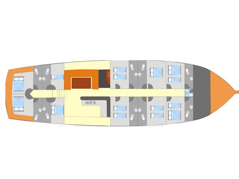 Gulet- Alaturka 2 (Alaturka 2) Plan image - 19