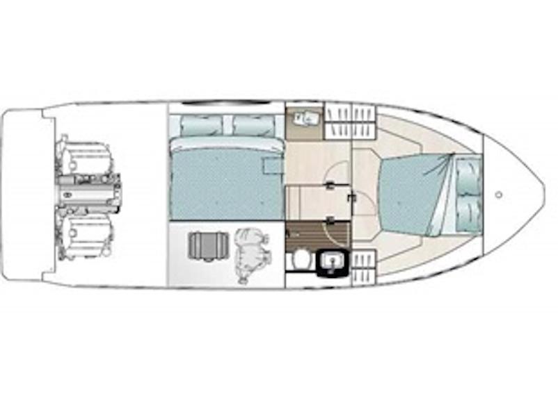 Sealine C330 (Salona I) Plan image - 13