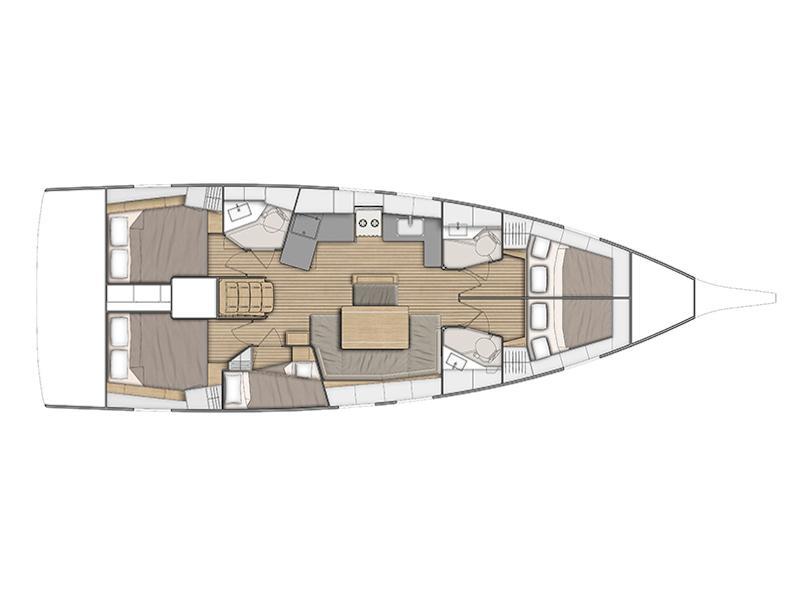 Oceanis 46.1 (Senza Ostacoli) Plan image - 1