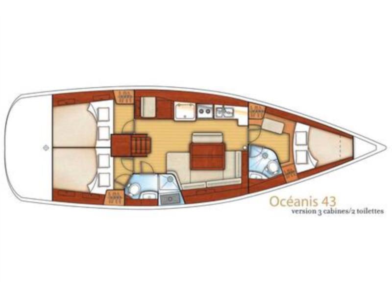 Oceanis 43 (Rhapsody Marmaris) Plan image - 3