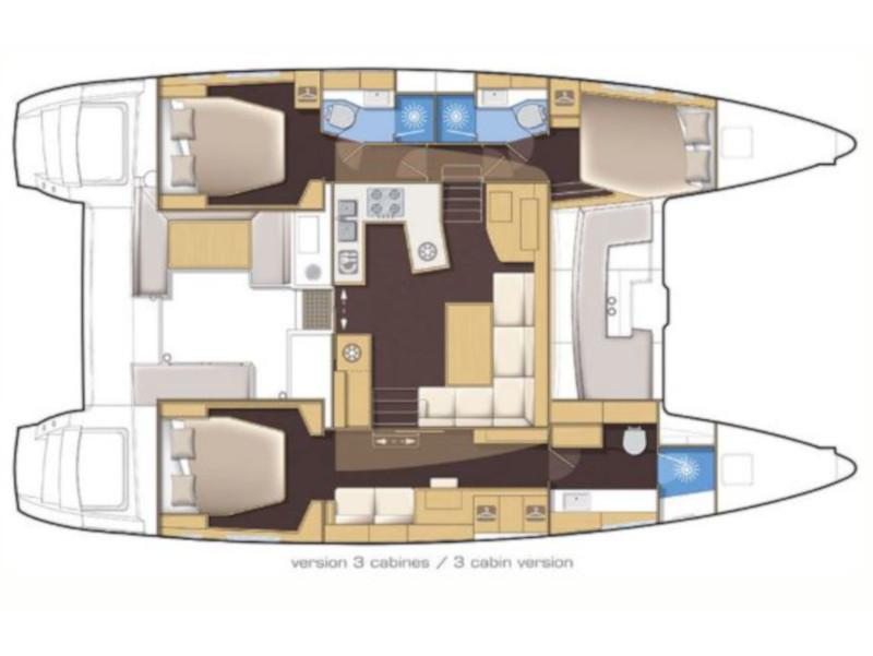Lagoon 450 Sport (Lagoon 45) Plan image - 2