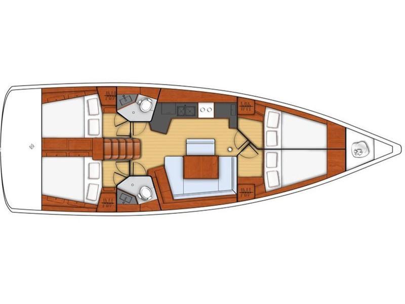 Oceanis 45-4 (Alboran XXXIV Nini (Majorca)) Plan image - 1
