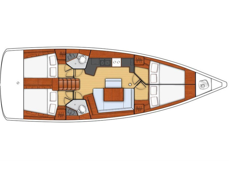 Oceanis 45-4 (Alboran XXXIV Nini (Gran Canaria)) Plan image - 2