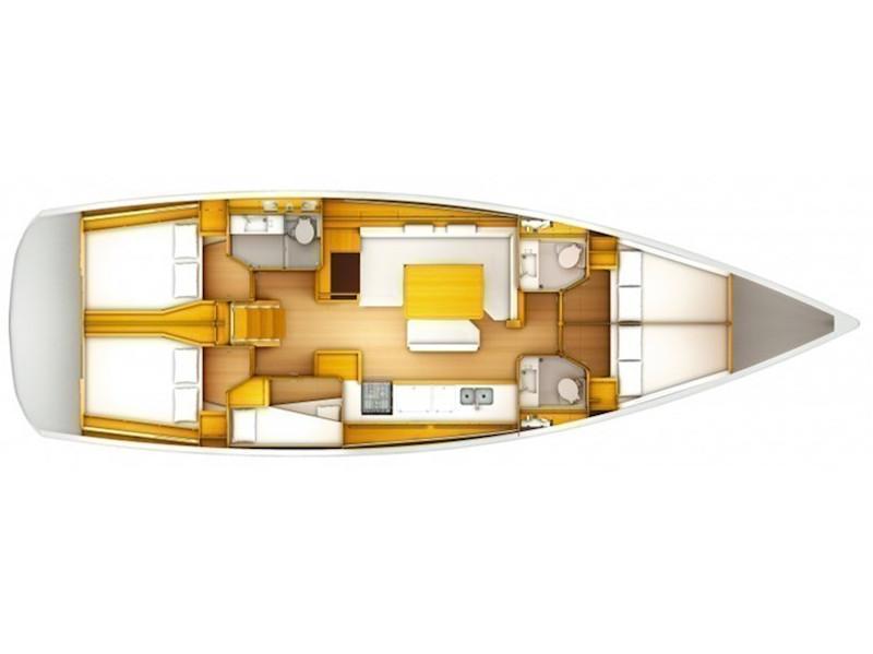 Sun Odyssey 519 (Alboran Champagne (Radazul)) Plan image - 1