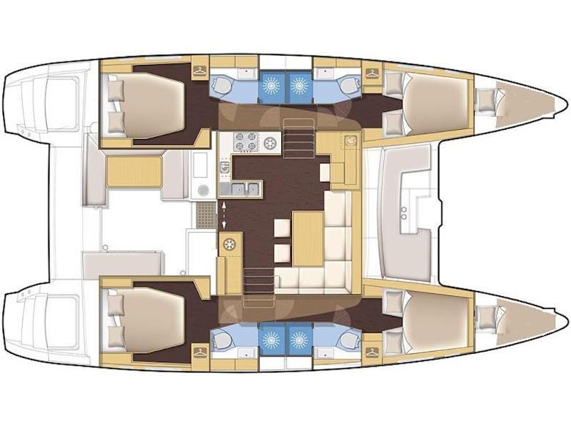 Lagoon 450  Flybridge (Golden Dream) Plan image - 9