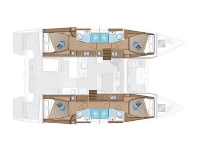 Lagoon 46 (Sbronzo) Plan image - 5