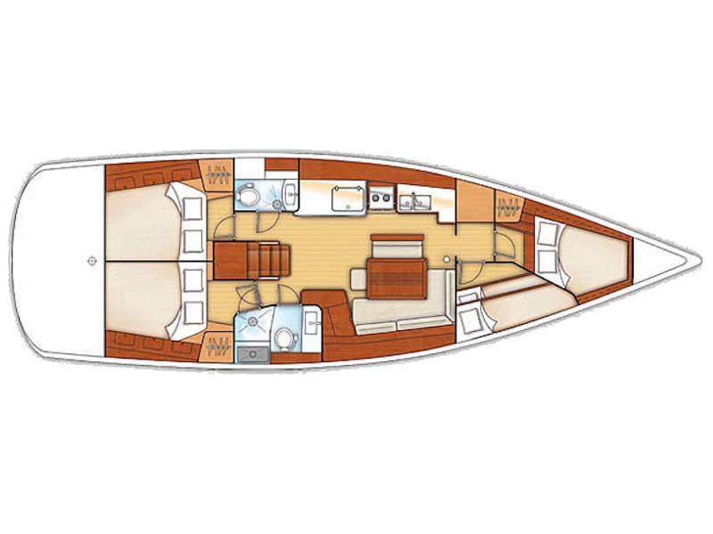 Oceanis 46 (Victoria) Plan image - 2