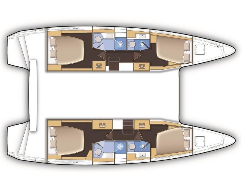 Lagoon 42 2019 - MALA KATE I - skippered (MALA KATE I - skippered) Plan image - 1