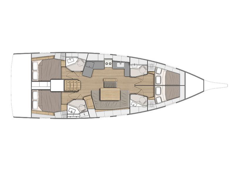 Oceanis 46.1 (Beautiful Helen) Plan image - 24