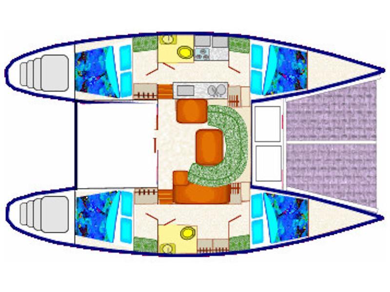 Lagoon 42 (Therese) Plan image - 15