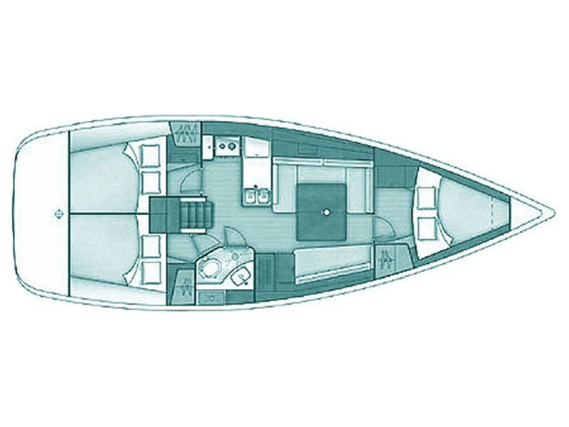 Oceanis 37 (Galene) Plan image - 2