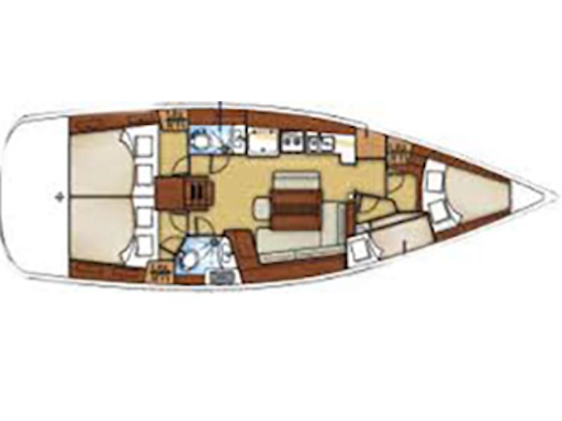 Beneteau Oceanis 43 (SAPHISO II) Plan image - 2