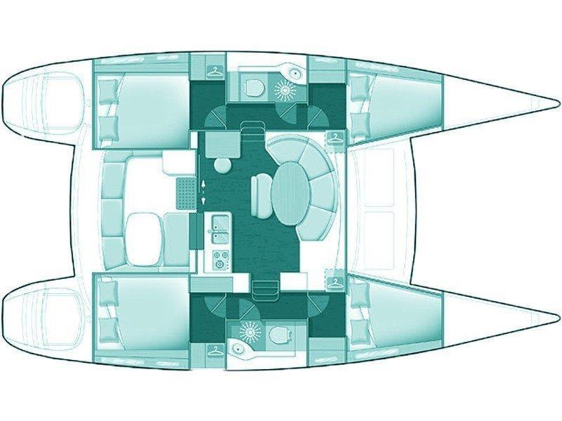 Lagoon 380 (Calypso) Plan image - 5