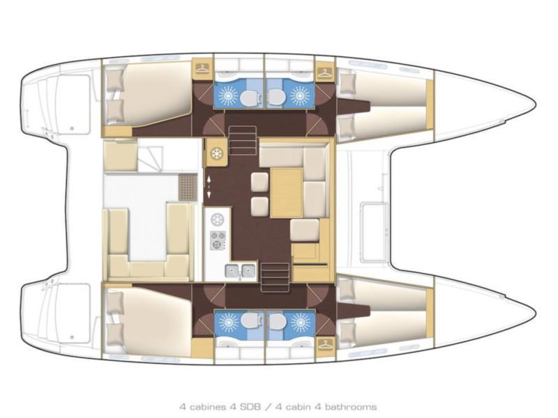 Lagoon 400 S2 (Armonia) Plan image - 12