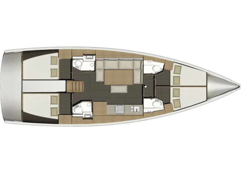 Dufour 460 Grand Large (Zenith) Plan image - 11