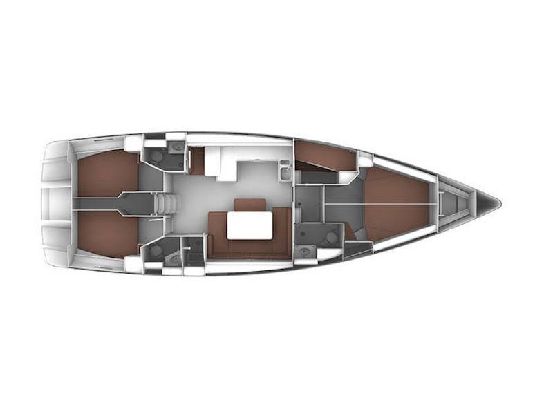 Bavaria  Cruiser 51 (Mediterranea) Plan image - 10