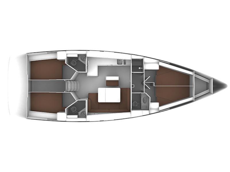 Bavaria Cruiser 46 (Tuerredda) Plan image - 1