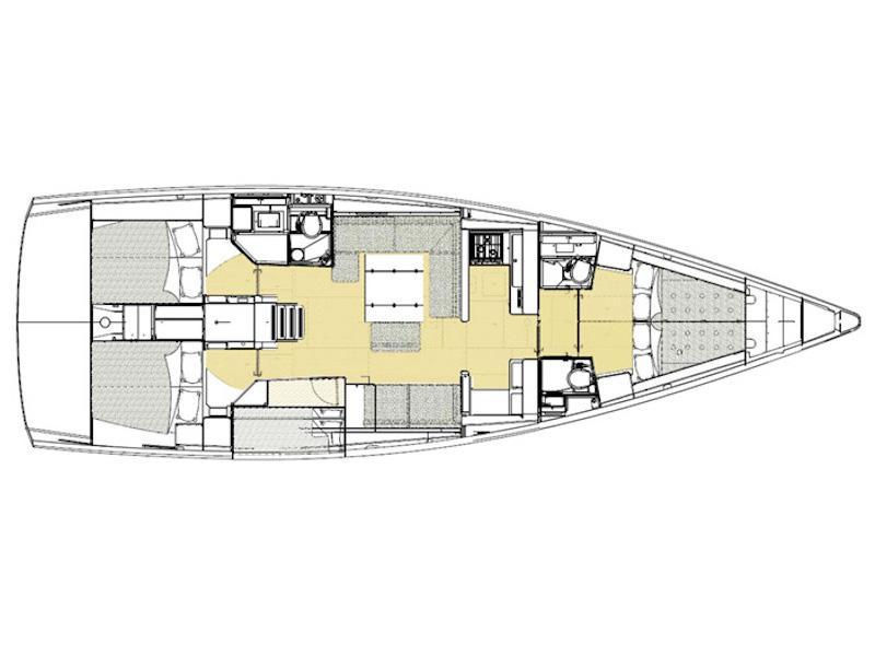 Dufour 520 GL (Su Giudeu) Plan image - 6