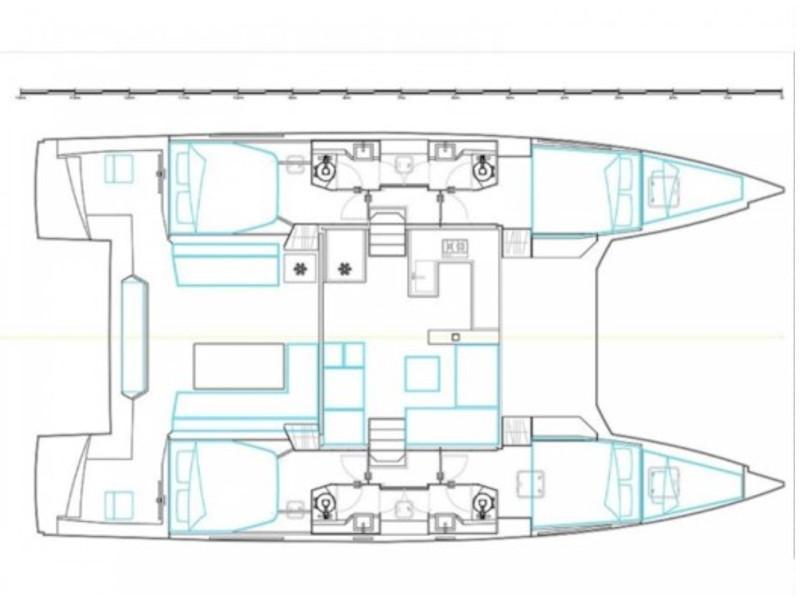 Nautitech 46 Fly (Sardinia - air conditioned -) Plan image - 2