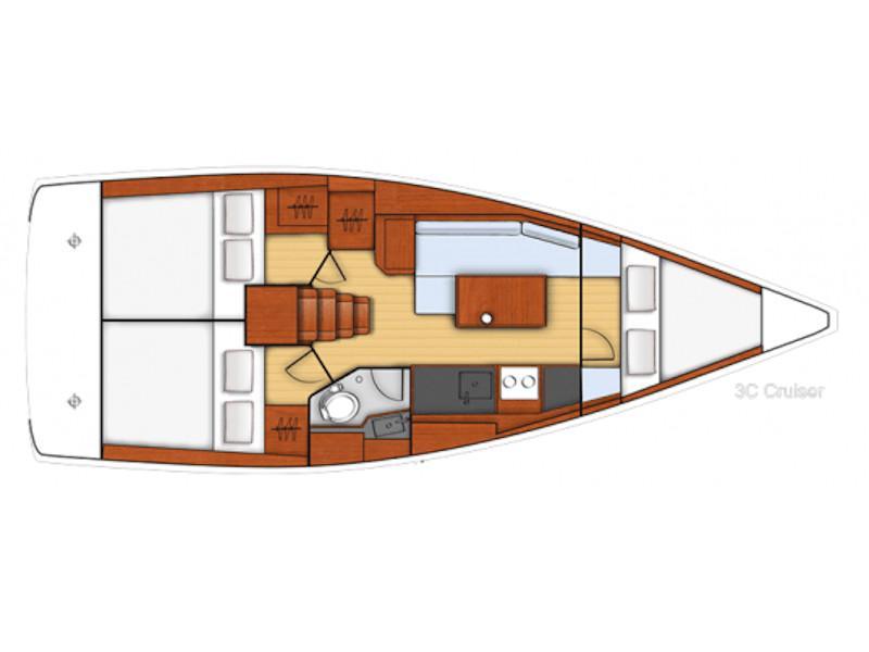 Beneteau Oceanis 35 (Blondi) Plan image - 1