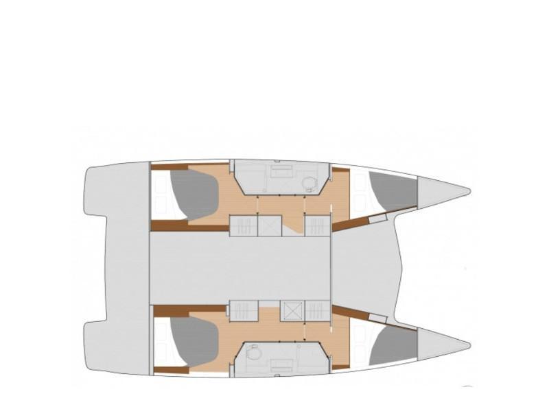 Fountaine Pajot 40 (Fitti) Plan image - 2