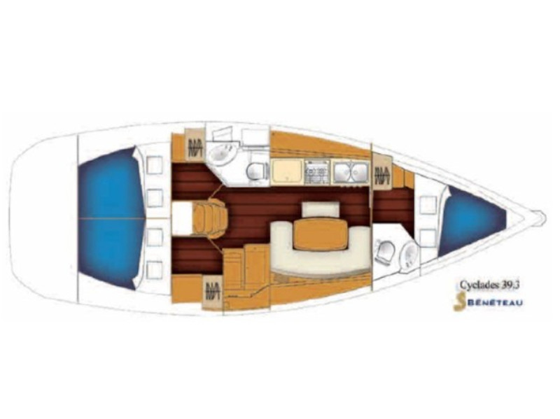 Cyclades 39.3 (Rhodes Yachting) Plan image - 5