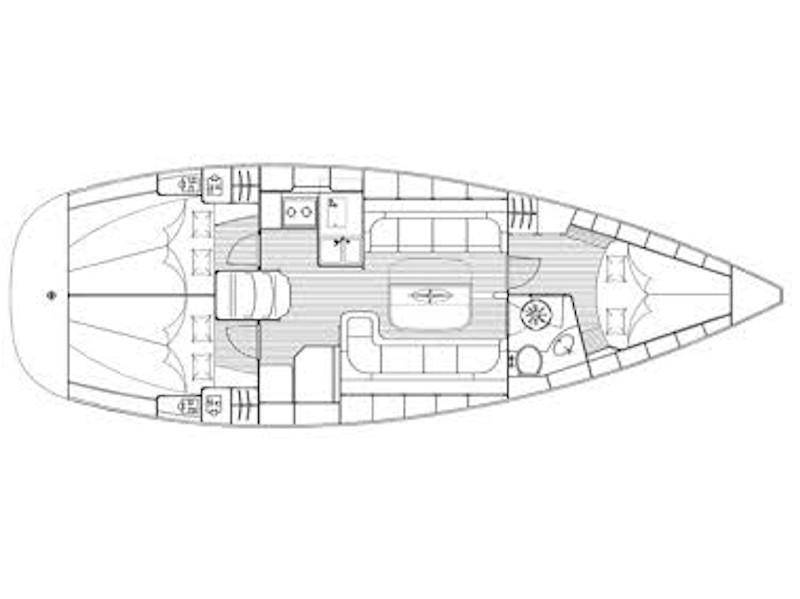Bavaria 37 (Alexandros 1) Plan image - 2