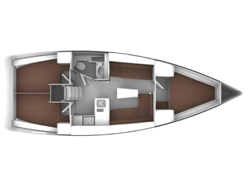 Bavaria 37 (Lady Ann) Plan image - 1