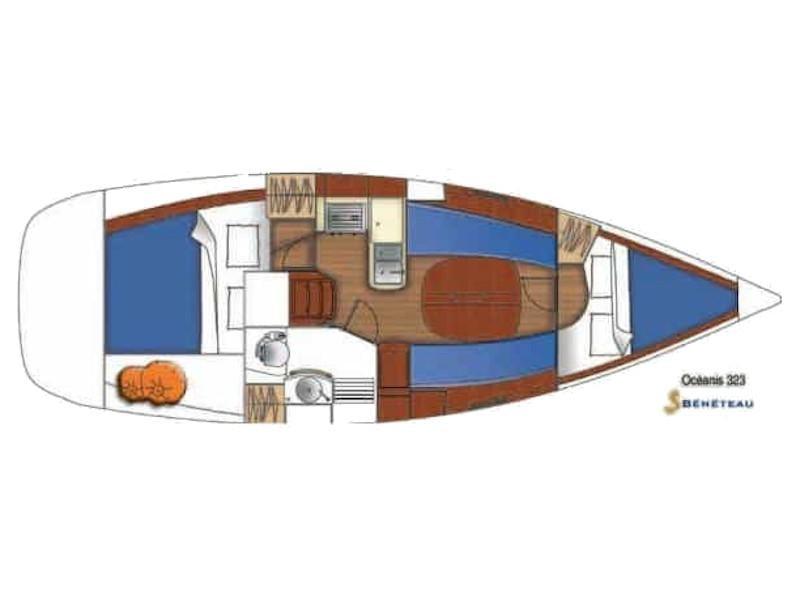 Oceanis 323 (Lily) Plan image - 1