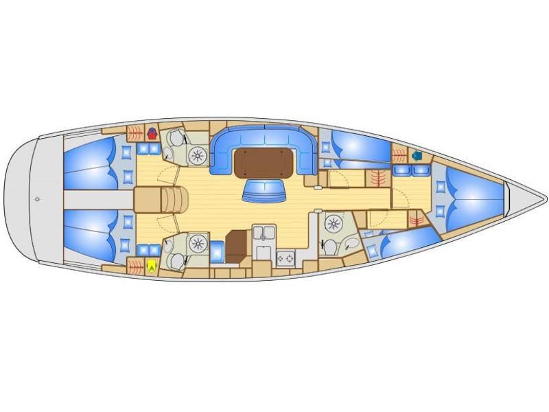 Bavaria 50 (Carina Star) Plan image - 1