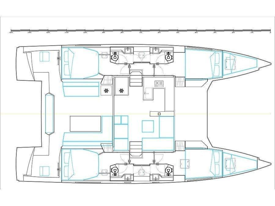 Nautitech 46 Fly (Vesselina) Plan image - 1