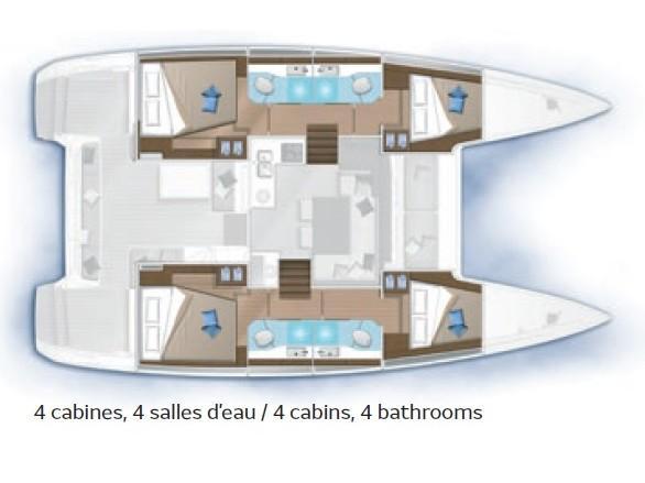 Lagoon 40 (Lagoon 40 - 2020) Plan image - 1