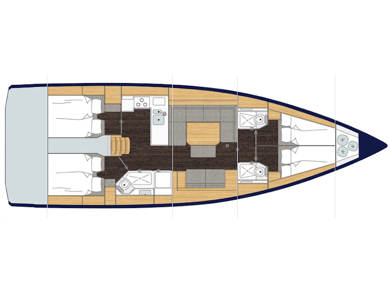 Bavaria C45 (Red Horizon) Plan image - 5