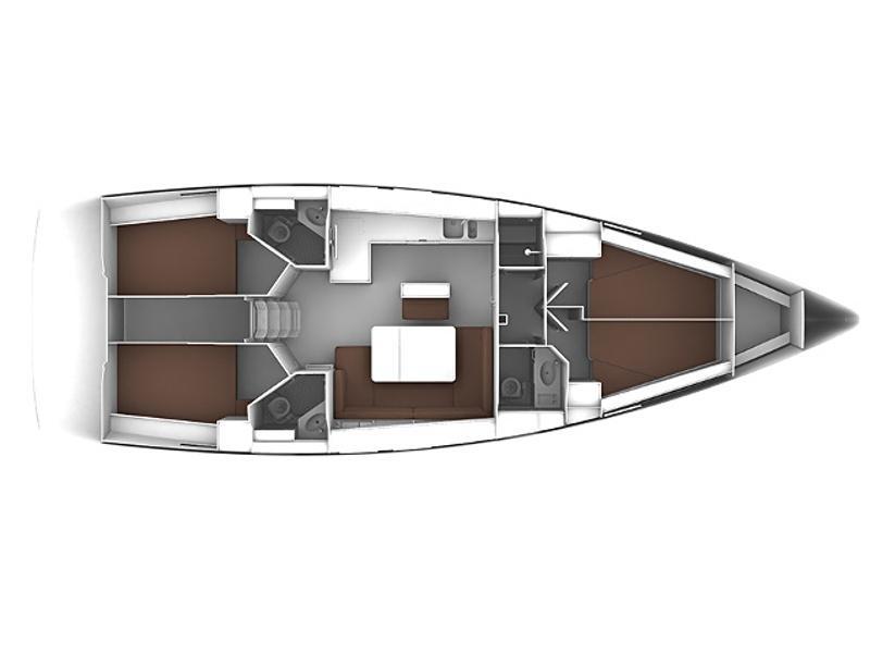 Bavaria 46 Cruiser (Adriana7 AC shore power, underwater light) Plan image - 6