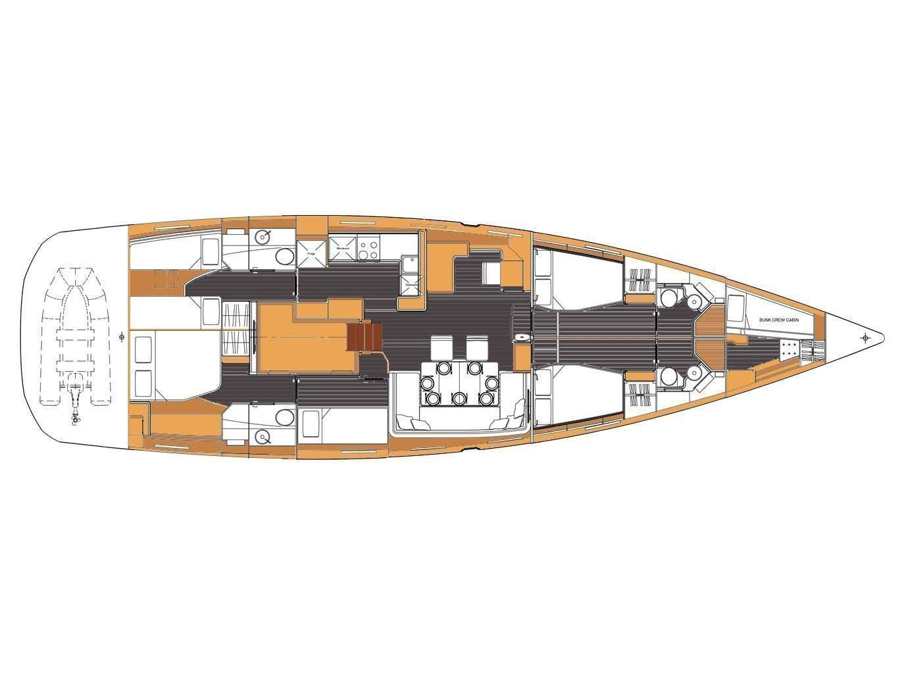 Jeanneau 64 (Freedom) Plan image - 23