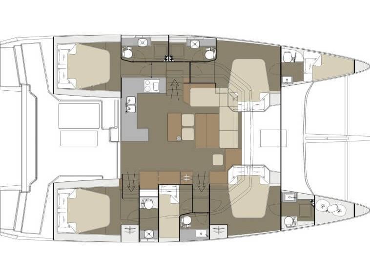 Dufour Catamaran 48 (Jovy) Plan image - 7