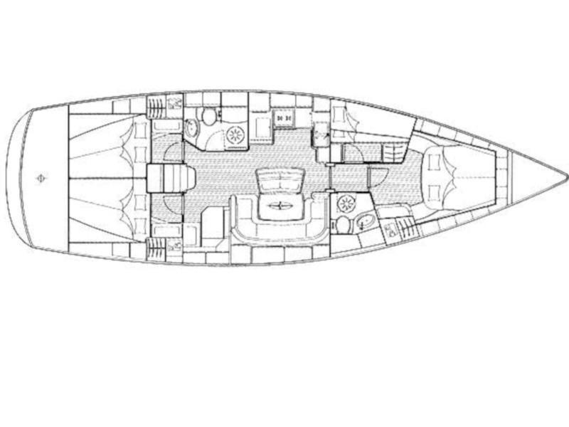 Bavaria 46 Cruiser (Karma) Plan image - 11
