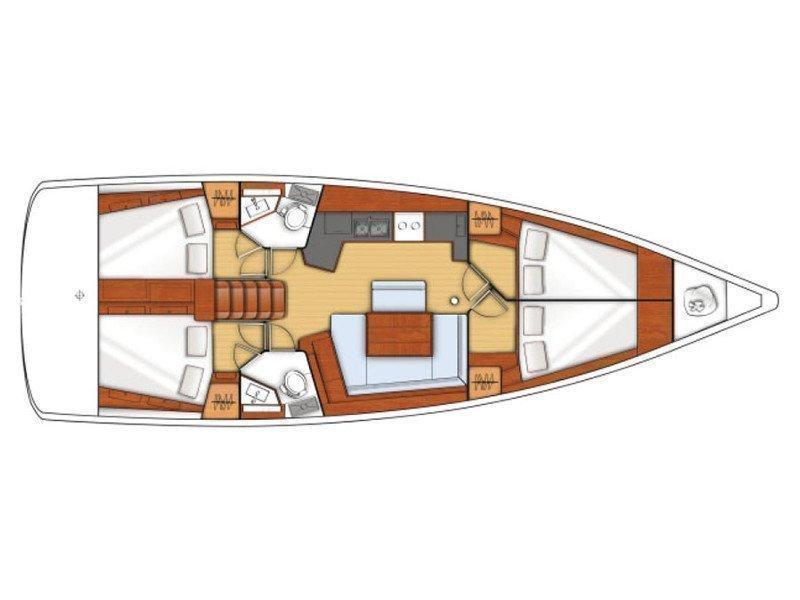 Oceanis 45 (Zephyros) Plan image - 4