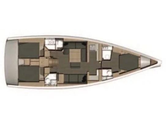 Dufour 512 Grand Large (Nostra) Plan image - 6