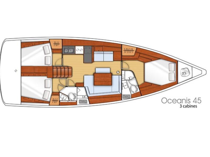 Oceanis 45 (Storm Dancer) Plan image - 1