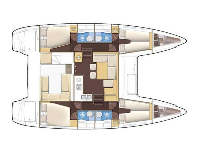 Lagoon 400 (Dali) Plan image - 2