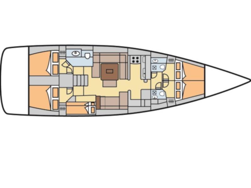 Dufour 500 Grand Large (Josephine) Plan image - 5