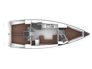 Bavaria Cruiser 41  (S/Y Alisahni) Plan image - 2