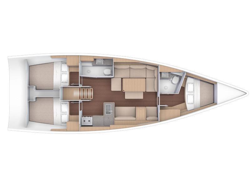 Dufour 412 Grand large (Hedoné) Plan image - 1
