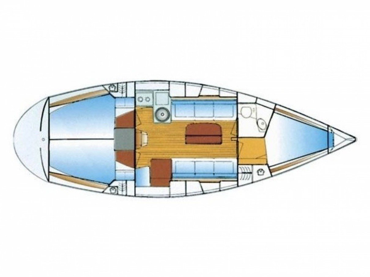Bavaria 34 - Sails 2017 chartplotter in cockipt (Sunrise II) Plan image - 2