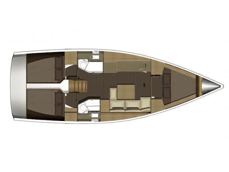Dufour 382 Grand Large (Les Troyens) Plan image - 11