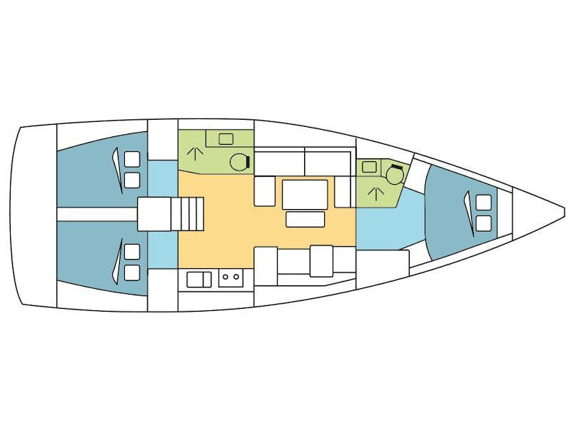 Dufour 412 Grand Large (Amaryllis) Plan image - 3