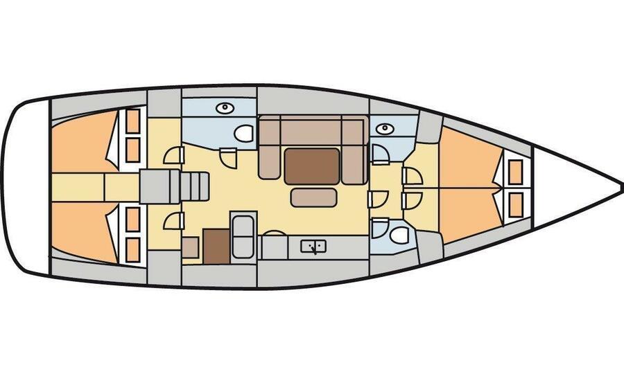 Dufour 445 GL (Pyrrha) Plan image - 2