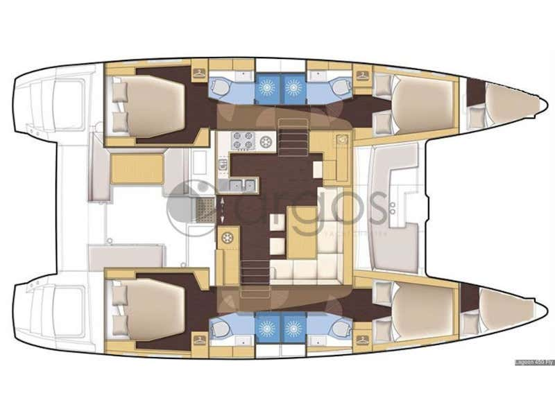 Lagoon 450  Flybridge (Oceana (A/C, Generator, Water Maker, Dishwasher, Washer Dryer)) Plan image - 9